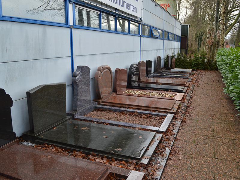grafstenen met graniet